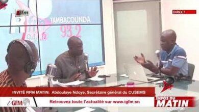 Abdoulaye Ndoye Sg Du Cusems Invite Rfm Matin Infos Du Matin Du 28 Avril 2021 4Gcgkcvjsno Image