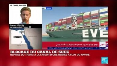 Blocage Du Canal De Suez Reprise Du Trafic A La Faveur Dune Remise A Flot Du Navire Capshzacgcs Image