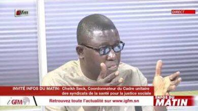 Cheikh Seck Coordonnateur Du Cadre Unitaire Invite Dans Infos Du Matin Du 27 Avril 2021 38Cpqy11Tkq Image