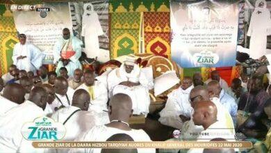 Direct Touba Grande Ziar Hizbou Tarkhiyah Aupres Du Khalif General Des Mourides Serigne Mountakha F7I44Qydyzu Image