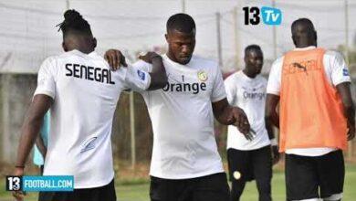 Entrainement Des Lions Sous Les Yeux Du Public A Saly Pour Preparer Leurs Deux Matches Amicaux Upbxnnutou8 Image