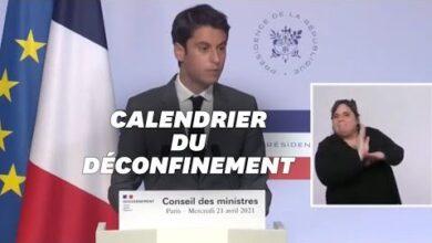 Gabriel Attal Confirme Le Deconfinement En Mai Lors Du Conseil Des Ministres Du 21 Avril 1Rcvi4Swl7M Image