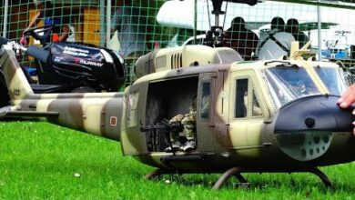 High Detailed Rc Interior Bell Uh 1D Us Army Helicopter Do9Hsasb6Mg Image