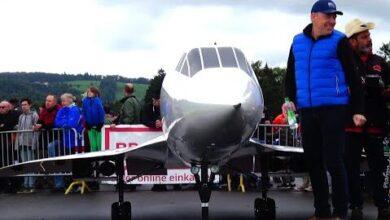 Incredible 149Kg Rc Concorde World Largest 4X Turbine Model Wheels Bigger Than Shoes 3Zgevsaheuk Image