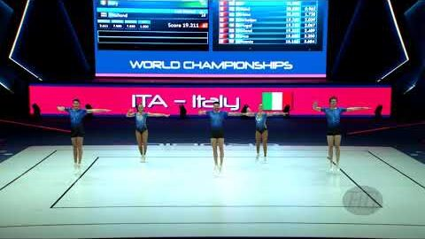 Italy Ita 2021 Aerobic Worlds Baku Aze Qualifications Group O5I3K 8Vul0 Image