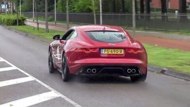 Jaguar F Type V8 R Coupe Loud Accelerations Crackles G29Anczdq0G Image