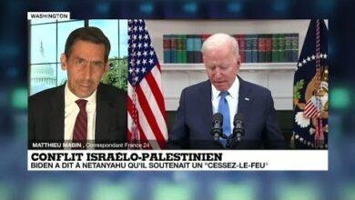 Joe Biden A Dit A Benjamin Netanyahu Son Soutien A Un Cessez Le Feu Au Proche Orient Qtfdiaspxq0 Image