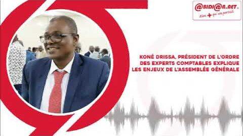 Kone Drissa President De Lordre Des Experts Comptables Situe Les Enjeux De Lassemblee Genera