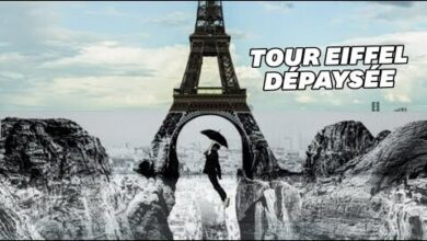 La Tour Eiffel Rhabillee Par Le Street Artiste Jr Avec Une Anamorphose 1I8E Zfa5Yo Image
