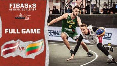 Latvia V Lithuania Mens Full Game Fiba 3X3 Olympic Qualifier Jznckpfk2Lm Image