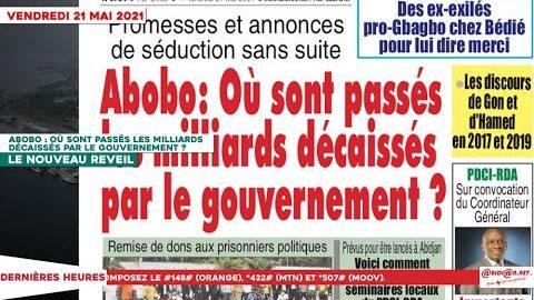 Le Titrologue Du 21 Mai 2021 Abobo Ou Sont Passes Les Milliards Decaisses Par Le Gouvernement Jcjvm0Sects Image