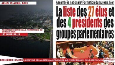 Le Titrologue Du Jeudi 15 Avril 2021 Assemblee Nationale Formation Du Bureau Hier Vqjhjk Ojl8 Image