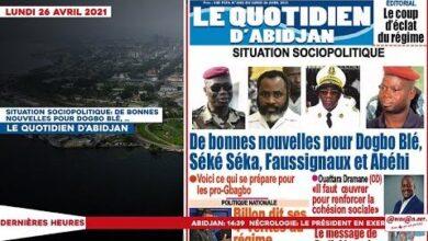 Le Titrologue Du Lundi 26 Avril 2021 Situation Sociopolitique De Bonnes Nouvelles Pour Dogbo Ble 04Ewmj8Gero Image