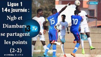 Ligue 1 14E Journee Ngb Et Diambars Se Partagent Les Points 2 2 Nznbaw Rmvw Image