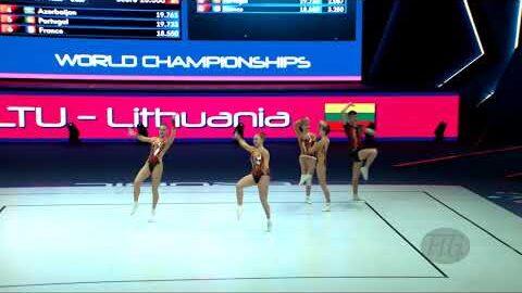 Lithuania Ltu 2021 Aerobic Worlds Baku Aze Qualifications Group Jva6K9Q Yls Image
