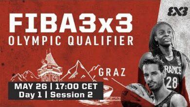 Live Fiba 3X3 Olympic Qualifying Tournament 2021 Day 1 Session 2 8Sva K40Ufs Image