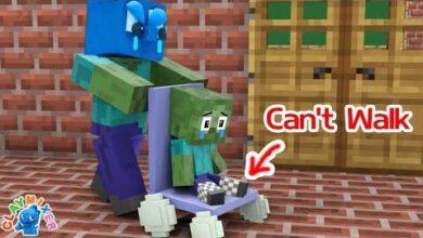 Monster School Bebe Zombie Ne Peut Pas Marcher Bleu Aide Bebe Zombie Animation Minecraft Dalvgpt Lxm Image