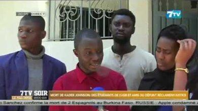 Mort De Kader Johnson Des Etudiants De Lugb Et Amis Du Defunt Reclament La Justice M8I8Mwexbo4 Image