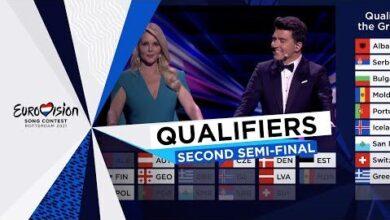 Qualifiers Annoucement Second Semi Final Eurovision 2021 Wtgjxeksmjk Image