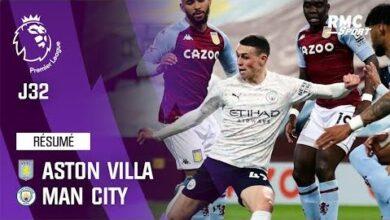Resume Aston Villa 1 2 Manchester City Premier League J32 K25D1Fcsnqs Image