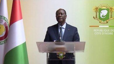 Retour Du President Alassane Ouattara Apres Le Sommet Sur Les Economies Africaines A Paris Gxug9Ien1Ly Image