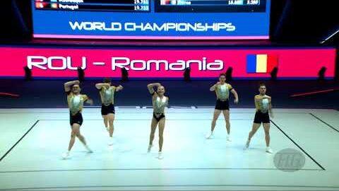 Romania Rou 2021 Aerobic Worlds Baku Aze Qualifications Group Djakalfziag Image
