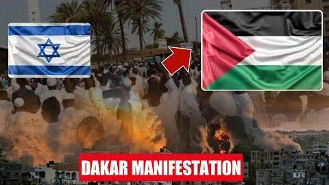 Rssemblement Pacifique Place De La Nation Senegal Marche Pour Liberation Masjid Al Aqsa Palestine Ogeyal4Vlf8 Image
