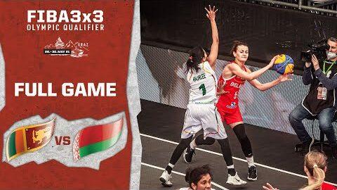Sri Lanka V Belarus Womens Full Game Fiba 3X3 Olympic Qualifier 2Eu7Jd Nli Image