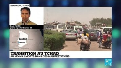 Transition Au Tchad Manifestations Meurtrieres Contre La Junte Dv1Kkg6Nvto Image