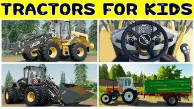 Trucks And Tractors For Kids Videos Learn Tractors For Children Preschool Kindergarten Toddlers Hbrsq2Abhso Image