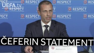 Uefa President Aleksander Ceferin Society Stands United Against Closed Super League Iufi7Oylgny Image