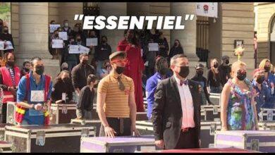 Un Flashmob Devant Le Theatre De Lodeon Pou Reclamer La Reouverture Des Lieux Culturels K Icce31Cdo Image