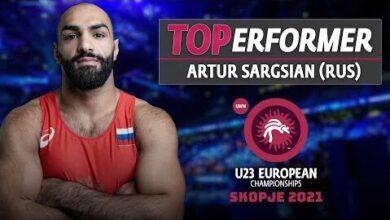 Wrestleskopje U23 Euro Cship Gr Top Performer Artur Sargsian 58Mx4Uqklua Image
