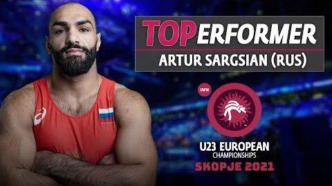 Wrestleskopje U23 Euro Cship Gr Top Performer Artur Sargsian