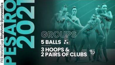 2021 Pesaro Rhythmic Gymnastics World Cup Highlights Group Competition Hsmrxxwbgzg Image