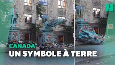A Toronto Une Statue Deboulonnee Apres Le Scandale De Lancien Pensionnat Amerindien 0Snxqlyzdgk Image