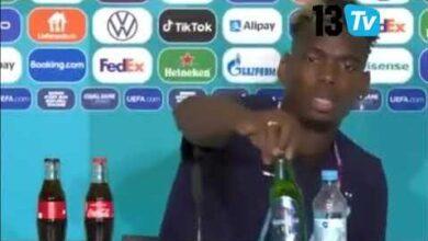Apres Cr7 Et Sa Bouteille De Coca Pogba Retire La Bouteille De Biere En Conf De Presse Mezyho2Bx8M Image