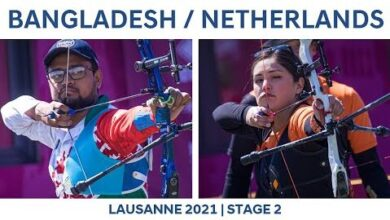Bangladesh V Netherlands Recurve Mixed Team Gold Lausanne 2021 Hyundai Archery World Cup S2 6Azfxs07Wus Image