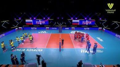 Brazil Vs Russia Fivb Volleyball Nations League Men Match Highlights 23 06 2021 E3F3L85T4Ze Image