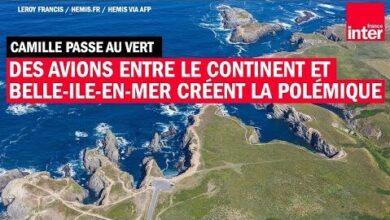 Bretagne Des Avions Entre Le Continent Et Belle Ile En Mer Font Polemique Camille Passe Au Vert Y60Sopi Kj8 Image