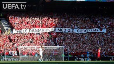 Denmark And Belgium Tribute To Christian Eriksen Euro 2020 I6Ku0Nnhivo Image