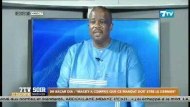 Dr Bacar Dia Macky A Compris Que Ce Mandat Doit Etre Le Dernier W3Xr194 Qv8 Image