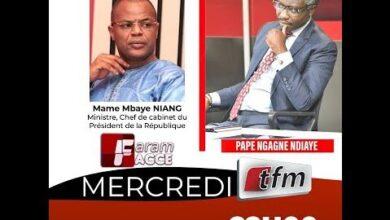 Faram Facce Invite Mame Mbaye Niang Presente Par Pape Ngagne Ndiaye 16 Juin 2021 Kln4A Bps W Image