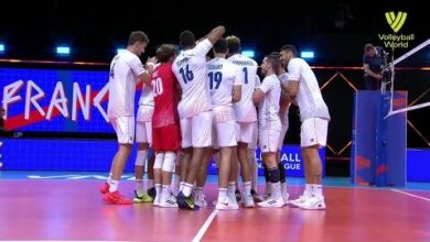 France Vs Poland Fivb Volleyball Nations League Men Match Highlights 23 06 2021 Aswl269W78A Image