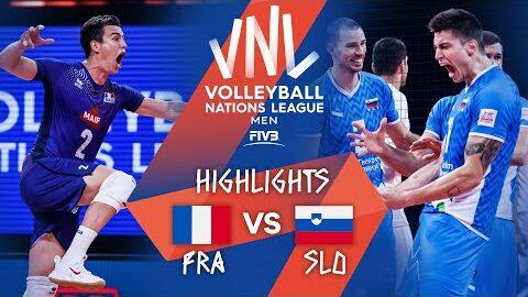 France Vs Slovenia Highlights Bronze Mens Vnl 2021