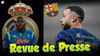 Kalidou Koulibaly Annonce Au Real Madrid Depay Va Signer 3 Ans Au Barca Revue De Presse Odm Guh3Nc4 Image