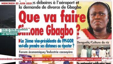 Le Titrologue Du 23 Juin 2021 Que Va Faire Desormais Simone Gbagbo Oewzoeutzhw Image