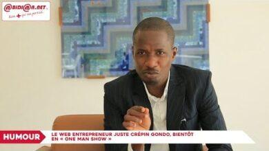 Le Web Entrepreneur Juste Crepin Gondo Bientot En One Man Show W3Zwqqejedu Image
