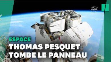 Les Premieres Images De La Sortie De Thomas Pesquet Dans Lespace Yuntci0Dcfu Image