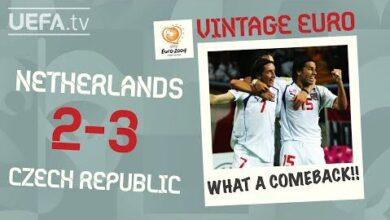 Netherlands 2 3 Czech Republic Euro 2004 Vintage Euro Uqzryclnrt4 Image